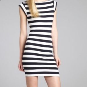 French Connection Cotton Stripe Cap Sleeve Dress 2